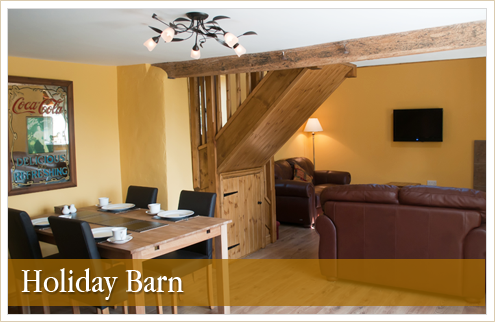 Self-catering holiday barn in Oswestry Shropshire